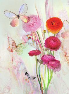 Lara Skinner - LSK Marble Peony Floral Butterfly Dream