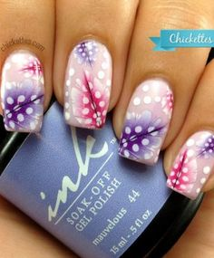 Nail rookies can sport intricate nails, too. Try nail decals for an easy fix. #nailart #naildecals