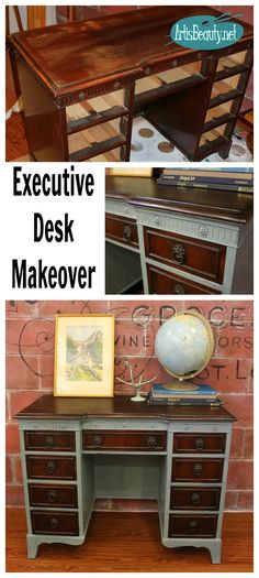 ART IS BEAUTY: Beat up Desk gets and EXECUTIVE makeover.