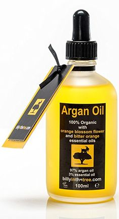 Pure Argan Oil with Orange Blossom and Bitter Orange Essential Oils.100% Organic. 100ml. For Face, Body, Hair.