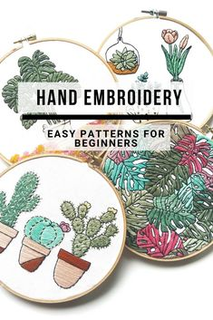 Hand Embroidery For Beginners Do you want to learn hand embroidery? Take a look at these cute and easy patterns for beginners. Modern Embroidery, Hand Embroidery Patterns, Embroidery Kits, Cross Stitch Embroidery, Contemporary Embroidery, Embroidery For Beginners, Embroidery Techniques, Cross Stitch Designs, Cross Stitch Patterns