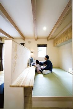 プロヴァンス 畳コーナー - Google 検索 Modern Japanese Interior, Japanese Style House, Tatami Room, Guest Room Office, Living Styles, Home Decor Bedroom, Small Spaces, House Plans, House Design
