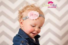 Pink Baby Headband pink baby headband pink by catchthatrainbow