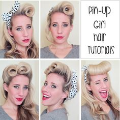 five pinup hair tutorials :)