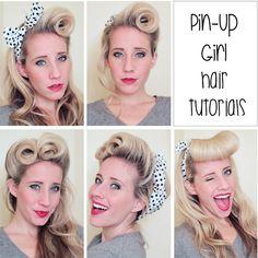 five pinup hair tutorials :)