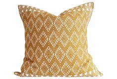 Mustard Yellow Handwoven Pillow | Instant Refresh | One Kings Lane