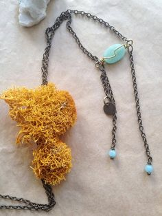Low Tide // Amazonite & Brass Necklace by CardinalandFig on Etsy