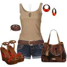 """Out for dinner with the girlies on our Key West get-a-away! """"Untitled #231"""" by johnna-cameron on Polyvore"""