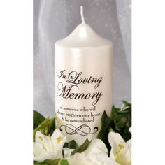 Two Pc.) Decal For A Memorial Candle, In Loving Memory, Wedding Remembrance Candle Decal Wedding Remembrance, Wedding Memorial, Funeral Memorial, Diy Candles, Pillar Candles, Floating Candles, Unity Candle, Hanging Candles, Custom Candles