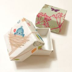 Use up some of those old greeting cards you have lying around! These cute boxes are perfect for gifts,decoration, or toys.