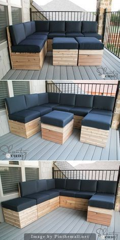 Pallet Furniture DIY Modular Outdoor Seating Free Plan Instructions - DIY Outdoor Patio Furniture Ideas - DIY Outdoor Patio Furniture Ideas Free Plan [Instructions]: Outdoor lounge furniture free plans, corner bench, daybed, dining table, chair and Pallet Garden Furniture, Outdoor Furniture Plans, Deck Furniture, Furniture Design, Modular Furniture, Farmhouse Furniture, Rustic Furniture, Victorian Furniture, Refurbished Furniture