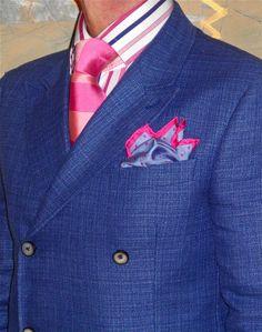 Circle of Gentlemen DB linen blazer, Hawes & Curtis shirt, Ted Baker tie