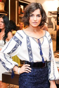 High Brow: The Best Celebrity Eyebrows - Camilla Belle - from Harper's Bazaar - I love her hair and outfit too! Camilla Belle, Make Up Black, Celebrity Eyebrows, My Hairstyle, Wet Look, Short Hairstyles For Women, Cut And Style, Her Hair, Wavy Hair
