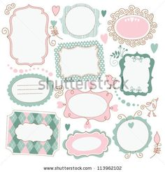 Vintage Frame Set. Calligraphic Design Elements. Ilustración vectorial en stock 166866650 : Shutterstock
