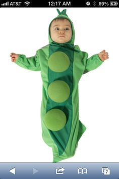 Sugar pea baby costume
