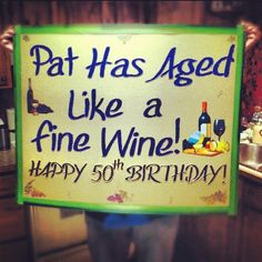 @Devon Conklin not this exact sign but some cheesy saying for the gift wine table