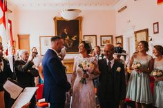 They made it! Everyone is happy and relieved that we're all finally here. Photo by Benjamin Stuart Photography #weddingphotography #herecomesthebride #brideandgroom #weddingday #weddingceremony #ido #weddingdress #prouddad