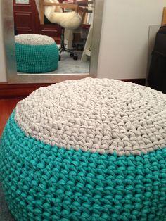 XXL crochet puff - puff trapillo