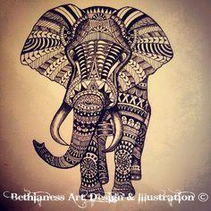 tribal elephant tattoo   Tattoos & Piercings   Pinterest