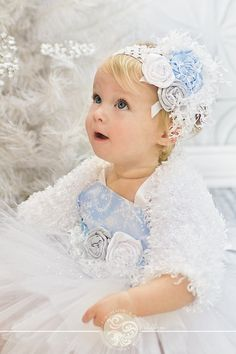 The Get-Up: Winter Toddler Snow Princess Tutu Set Pageant by Baby2BNashville