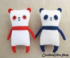 Amigurumi Panda Crochet pattern with Instant Download pdf Cute