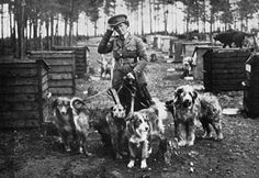 Blanche Richardson & pupils at the British War Dog School