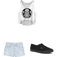 Crazy Starbucks women by myanhtran209 on Polyvore featuring polyvore, interior, interiors, interior design, home, home decor, interior decorating, MANGO and Vans