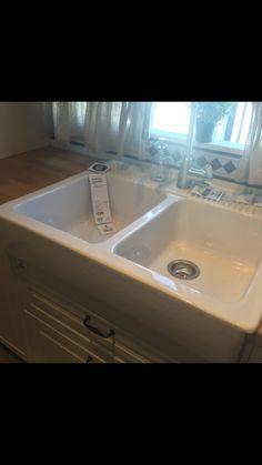 IKEA onset sink two bowls. Domsjo/Lillviken $299 complete.