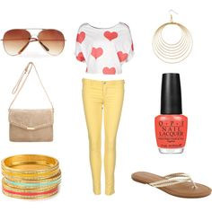 Coral and Yellow