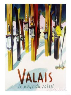 Valais, Switzerland - The Land of Sunshine Poster bij AllPosters.nl