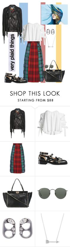 """""""Plaid Things"""" by scope-stilettos ❤ liked on Polyvore featuring Gucci, Caroline Constas, Valentino, Ray-Ban, Marc Jacobs and Estella Bartlett"""