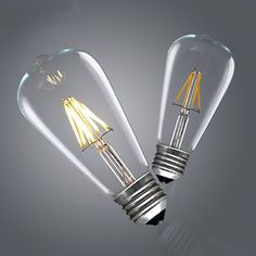 Find More LED Bulbs & Tubes Information about Retro Vintage LED Edison Bulb E27 ST64 4W/6W/8W Dimmable Led Filament 360 Degree Bulb Edison Lamp bulbs,High Quality light torch,China lighting galaxy Suppliers, Cheap light pink hair dye from Zhongshan East Shine Lighting on Aliexpress.com Edison Led, Edison Lighting, Edison Bulbs, Wall Lighting, Led Wall Lamp, Lamp Bulb, Incandescent Light Bulb, Led Night Light, Downlights