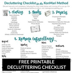 The Ultimate FREE Printable Decluttering Checklist for KonMari Success! | Making Lemonade