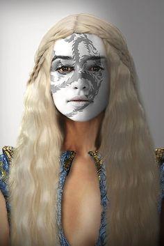 Game of Thrones. Daenerys Targaryen Dragon House War Paint by HilaryHeffron