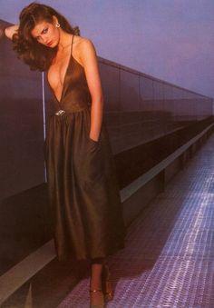 Gia Carangi in Calvin Klein, Harper's Bazaar, June 1978.