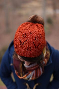 This slouchy hat with an eye-catching leaf motif is the perfect winter pattern. Add a pom pom to top it all off or leave it bare to show off the geometric crown shaping. Find this pattern and more knitting inspiration at LoveKnitting.Com.