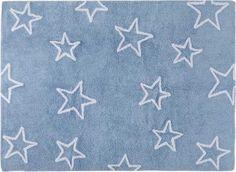 DECOILUZION - Alfombra infantil Estrellas azul