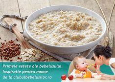 Reteta budinca de ovaz cu seminte de chia pentru bebelusi de la 10-12 luni. Semintele de chia sunt unele dintre cele mai nutritive alimente din lume iar ovazul cu gustul lui dulceag e indragit de multi bebelusi. Pudding, Holistic Nutrition, Baby Food Recipes, Oatmeal, Grains, Breakfast, Babys, Banana, Baby Meals