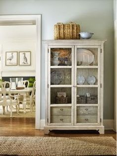 Wayfair.com - This type of cabinet would be cute for linen storage if you didn't have enough closets.