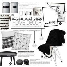urban and chic home decor on Polyvore