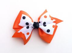Halloween hairbow by DecorativeMatters on Etsy, $3.75