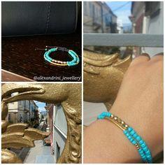 Turquoise loves gold #bracelet