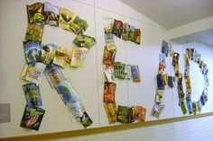Neat display...could also do with photos of kids reading displayed to spell read (picture only)