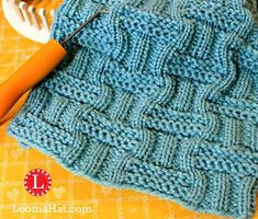 Loom knit stitch Double Basket