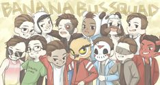 Banana Bus Squad! 💛🙏💯😎🔥 Bbc, Bbs Squad, H20 Delirious, Crew Team, Vanoss Crew, Banana Bus Squad, Youtube Gamer, Ship Art, Best Youtubers