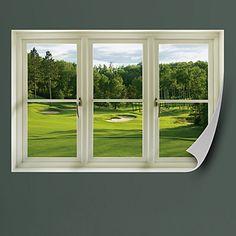 golf office decor. Spring Golf Tee Box: Instant Window Office Decor