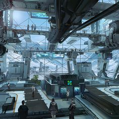 """Dystopia_Plugged In — sciencefictionworld: """"Star Citizen: Microtech. Spaceship Interior, Futuristic Interior, Futuristic City, Star Citizen, Sci Fi Background, Sci Fi City, Star Wars, Game Character Design, Environment Concept Art"""