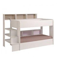 Kinderetagenbett viel Stauraum Weiß Genzema