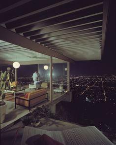 Case Study House #22 (Stahl House, Los Angeles, California, Architect Pierre Koenig), Playboy, 1960 window view