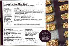 Bliss Bar, Epicure Recipes, Perfect Portions, Healthy Snacks, Healthy Recipes, Dessert Recipes, Desserts, Food Allergies, Food Processor Recipes